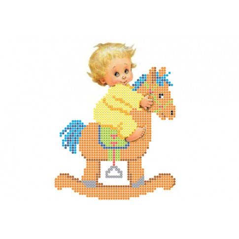 "Bead embroidery pattern ""On a horse"""