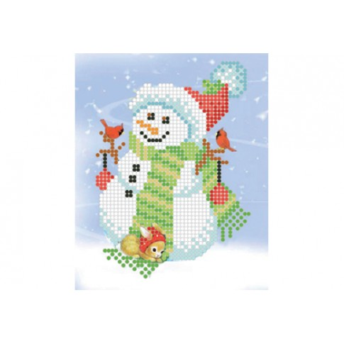 "Bead embroidery pattern ""Snowman"""