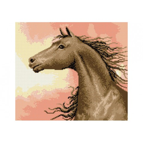 "Bead embroidery pattern ""Horse at sunrise"""