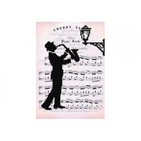 "Bead embroidery pattern ""Romantic saxophone"""