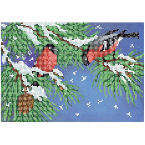 "Bead embroidery pattern ""Winter"""