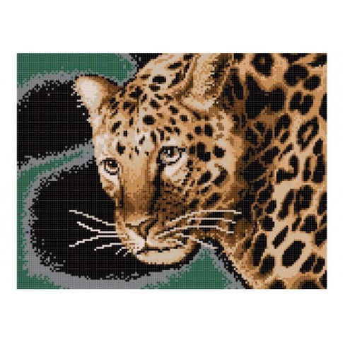 "Bead embroidery pattern ""Leopard"""