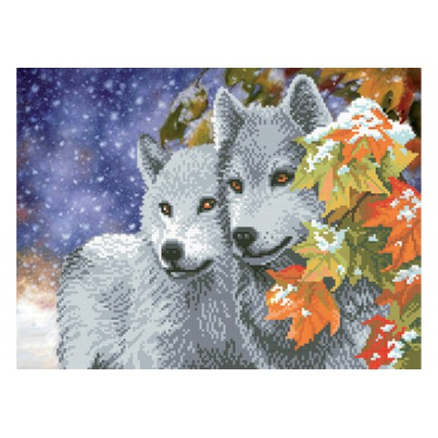 """Bead embroidery pattern """"Wolves"""""""