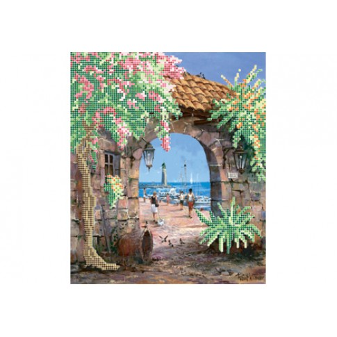 """Bead embroidery pattern """"Seafront"""""""