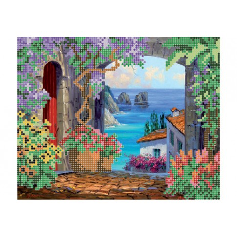 "Bead embroidery pattern ""Road to the sea"""