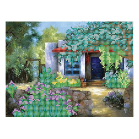 "Bead embroidery pattern ""Summer yard"""