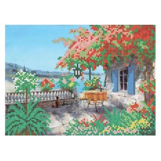 """""""Summer terrace"""" - Bead embroidery pattern"""