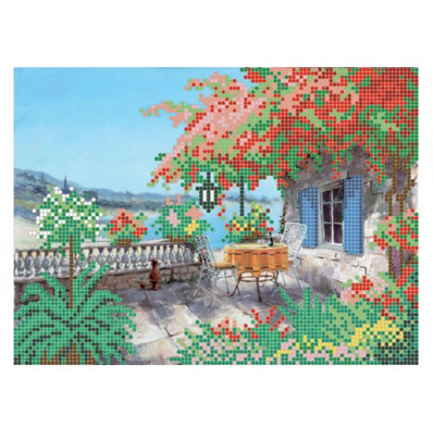 """Bead embroidery pattern """"Summer terrace"""""""