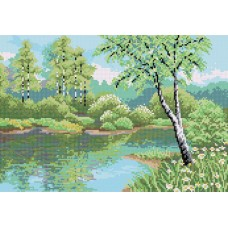 """Birch grove"" - Bead embroidery pattern"