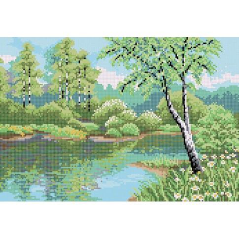 "Bead embroidery pattern ""Birch grove"""