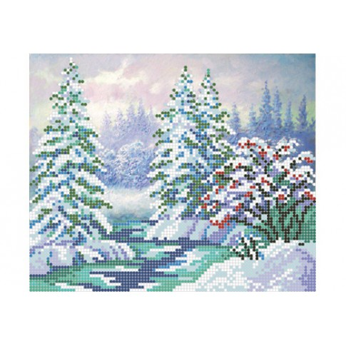 """Bead embroidery pattern """"Winter forest"""""""