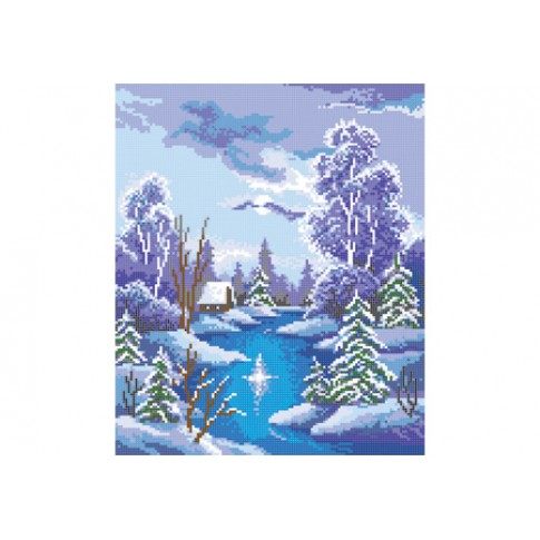 "Bead embroidery pattern ""Winter night"""