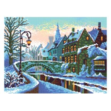 """""""Winter city"""" - Bead embroidery pattern"""