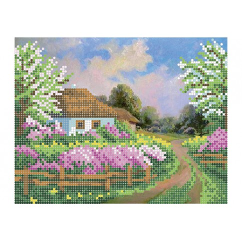 "Bead embroidery pattern ""Way home"""