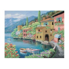 """Seaside city"" - Bead embroidery pattern"