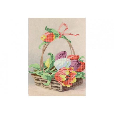 """Bead embroidery pattern """"Tulips"""""""
