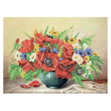 """""""Still life with poppies"""" - Bead embroidery pattern"""