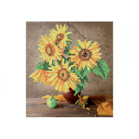 "Bead embroidery pattern ""Sunflowers"""