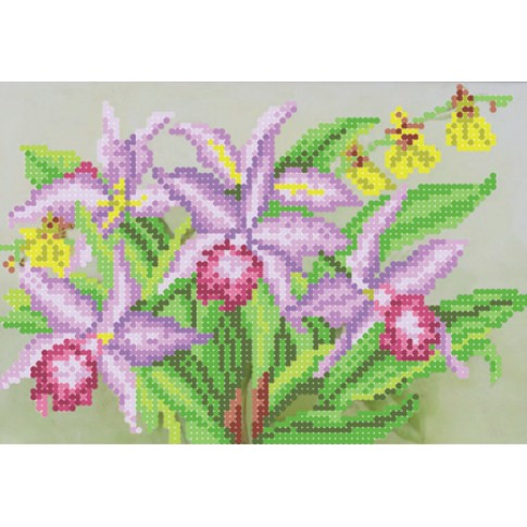 "Bead embroidery pattern ""Orchids"""