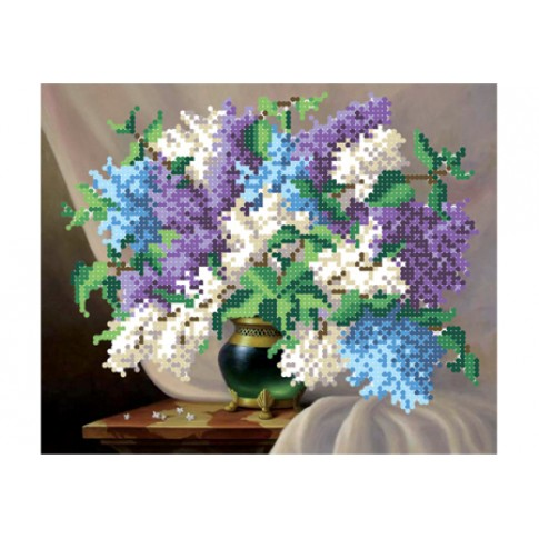 "Bead embroidery pattern ""Lilac mood"""