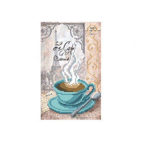 "Bead embroidery pattern ""A cup of coffee"""