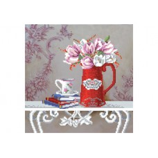 """""""Still life with tulips"""" - Bead embroidery pattern"""