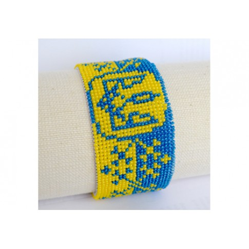 "Bracelet bead kit ""Coat of arms of Ukraine"""