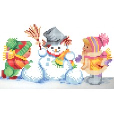 """Winter fun"" - Bead embroidery pattern"