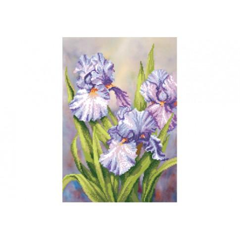 "Bead embroidery pattern ""Irises"""
