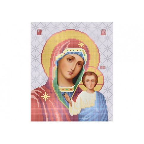 "Bead embroidery pattern of icon ""Our Lady of Kazan"""