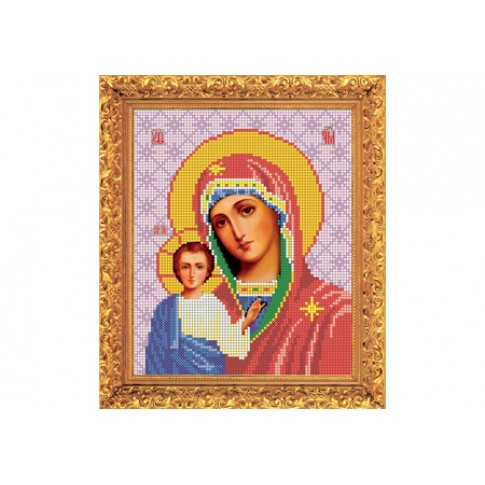 "Bead embroidery kit of icon ""Our Lady of Kazan"""