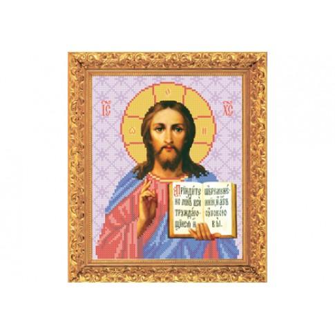 "Bead embroidery kit of icon ""Christ Pantocrator"""