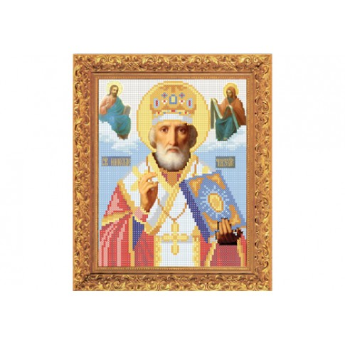 "Bead embroidery kit of icon ""Saint Nicholas"""