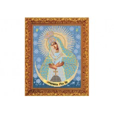 """Bead embroidery kit of icon """"Our Lady of the Gate of Dawn"""""""