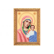 """Bead embroidery kit of icon """"Our Lady of Kazan"""" А5"""