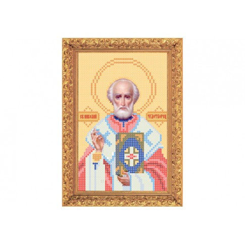 "Bead embroidery kit of icon ""Saint Nicholas"" А5"