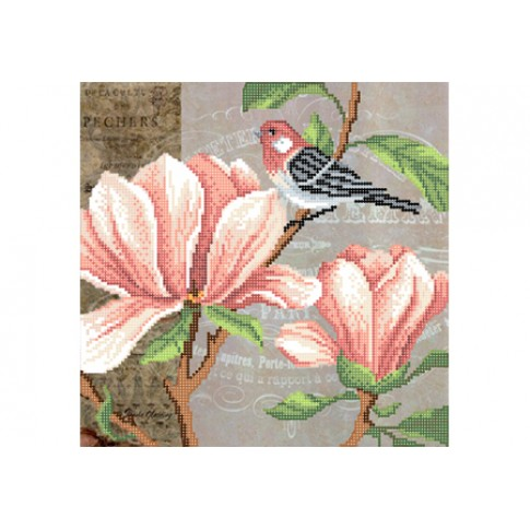 "Bead embroidery pattern ""Magnolia, part 1"""