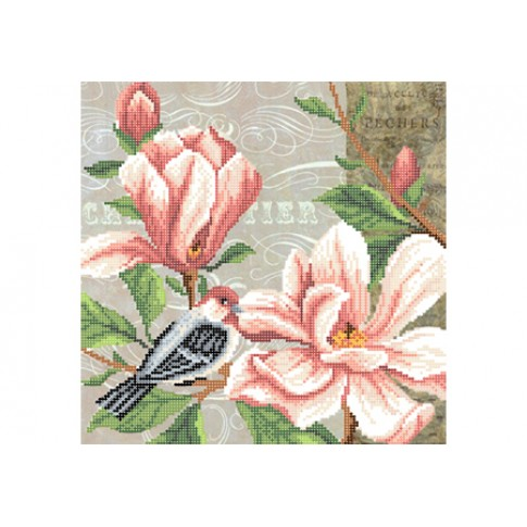 """Bead embroidery pattern """"Magnolia, part 2"""""""