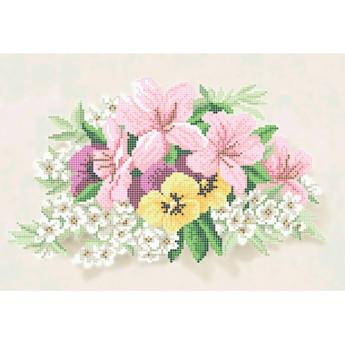 """Bead embroidery pattern """"A gentle bouquet"""""""