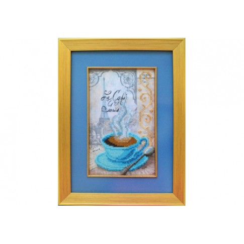 "Bead embroidery kit ""Cup of coffee"""