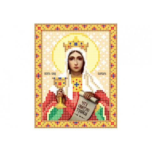 "Bead embroidery pattern of icon ""Saint Barbara"""