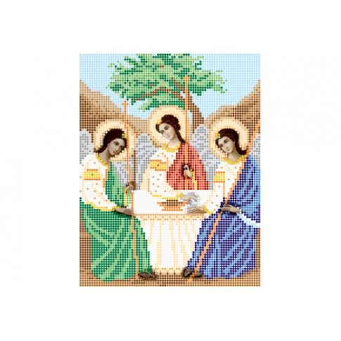 """Bead embroidery pattern of icon """"Holy Trinity"""""""