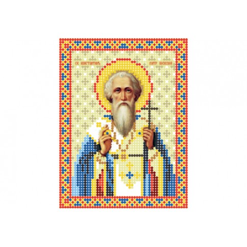 """Bead embroidery pattern of icon """"Saint Constantine the Great"""""""