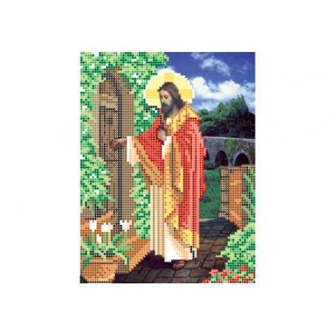 "Bead embroidery pattern of icon ""The Light of the World"""