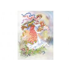 """""""Ukrainian girl in bloom"""" - Bead embroidery pattern"""