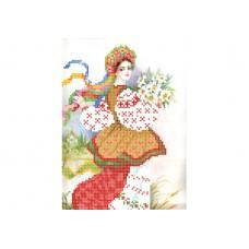 """Ukrainian girl"" - Bead embroidery pattern"