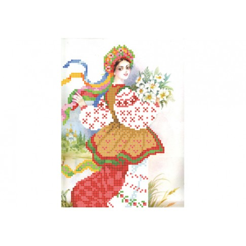 "Bead embroidery kit ""Ukrainian girl"""