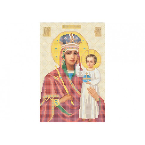 "Bead embroidery pattern of icon ""Our Lady Support of the Humble"""