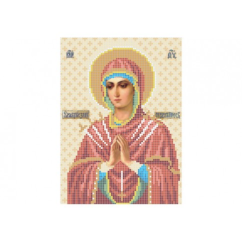 "Bead embroidery pattern of icon ""Softener of Evil Hearts"""