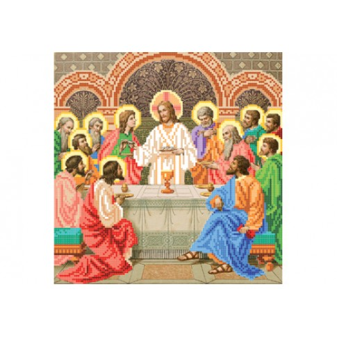 "Bead embroidery pattern of icon ""Last Supper"""